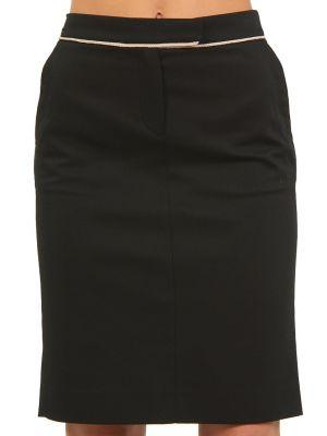 Хлопковая юбка - черная Cerruti 18crr81