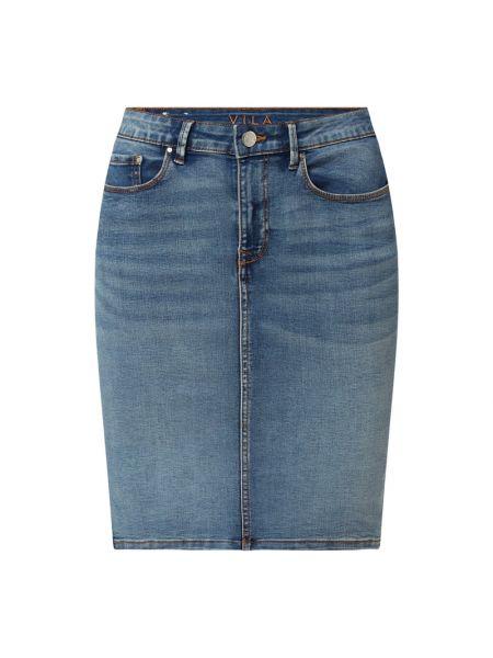 Niebieska spódnica jeansowa bawełniana Vila
