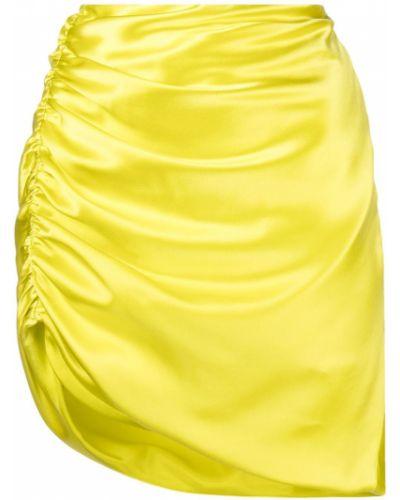 Юбка мини с завышенной талией - желтая Michelle Mason