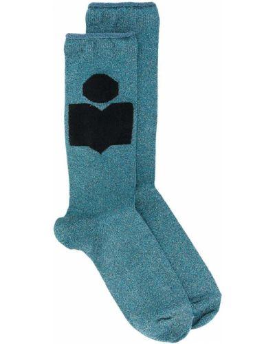 Текстильные синие носки в рубчик Isabel Marant