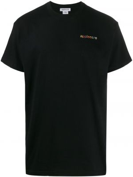 Czarny t-shirt bawełniany z printem Applecore