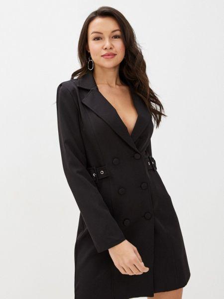 Платье платье-пиджак черное Euros Style