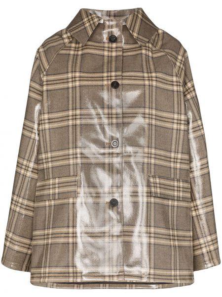 Длинное пальто с капюшоном на пуговицах Kassl