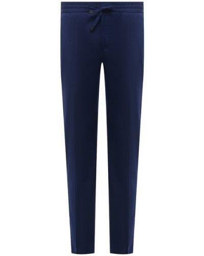 Хлопковые синие брюки Brioni