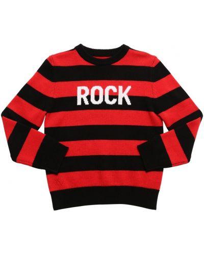 Czarny z kaszmiru sweter w paski Zadig&voltaire
