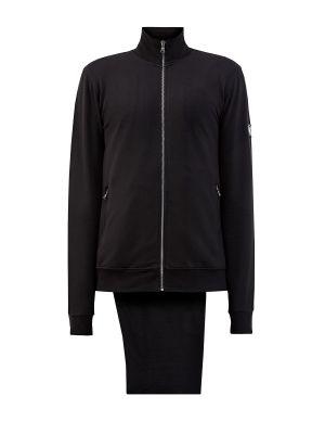 Прямой черный спортивный костюм из футера Cudgi