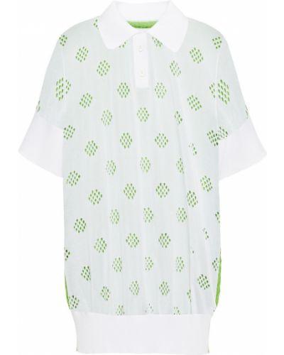 Prążkowana biała koszula bawełniana Mm6 Maison Margiela