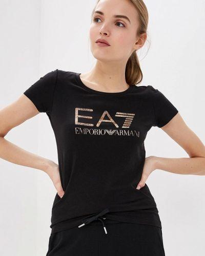 Черная футболка 2019 Ea7