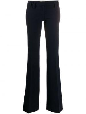 Синие со стрелками расклешенные брюки на молнии Versace Pre-owned