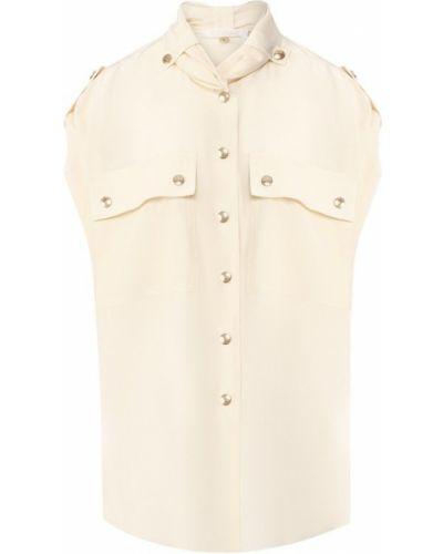 Блузка из крепа сафари Chloé