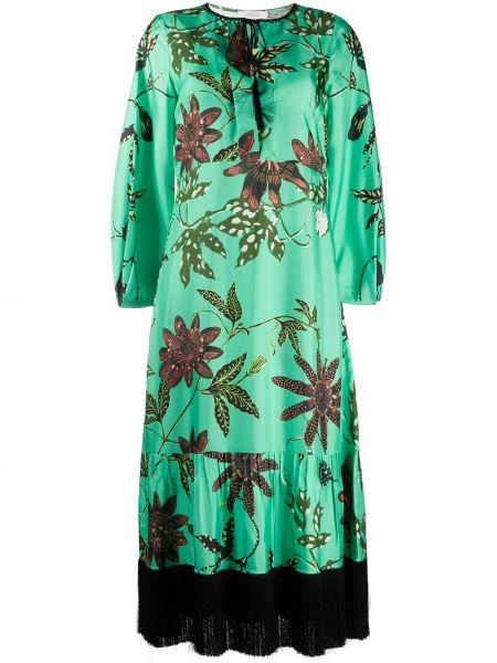 Платье с бахромой с цветочным принтом Dorothee Schumacher