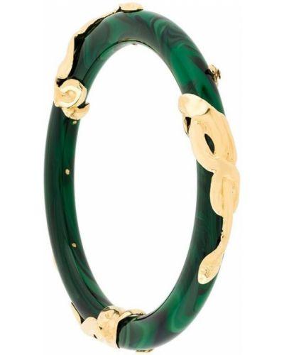 Зеленый браслет со вставками Gas Bijoux