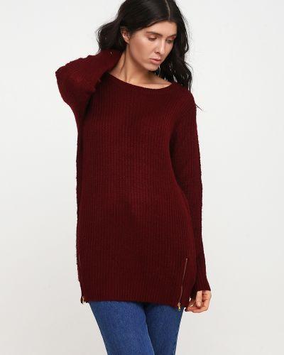 Красный вязаный свитер с круглым вырезом Alcott