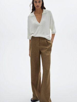 Повседневные коричневые брюки Massimo Dutti