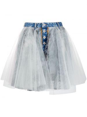 Джинсовая юбка со вставками пышная Unravel Project