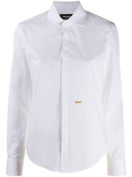 Белая классическая рубашка с воротником с длинными рукавами Dsquared2