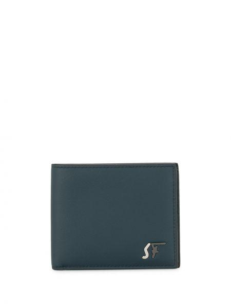 Srebro portfel z gniazdem z prawdziwej skóry Salvatore Ferragamo