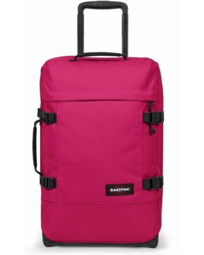 Różowa walizka Eastpak