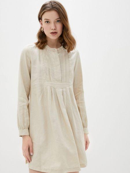 Бежевое платье United Colors Of Benetton