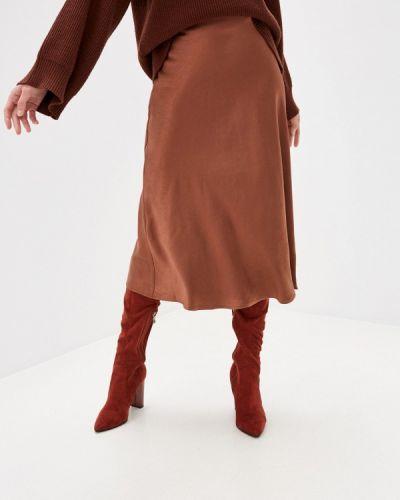 Коричневая юбка свободного кроя Zarina