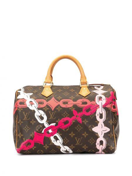 Золотистая кожаная коричневая цепочка с карманами Louis Vuitton