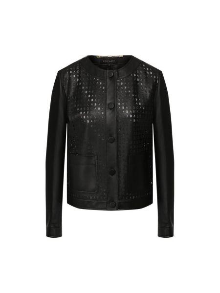 Кожаная куртка из фатина с подкладкой Escada