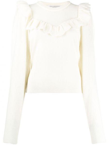 Шерстяной свитер - белый Philosophy Di Lorenzo Serafini