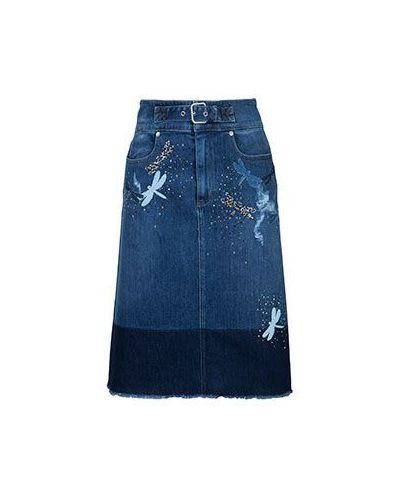 Синяя юбка миди Valentino Red