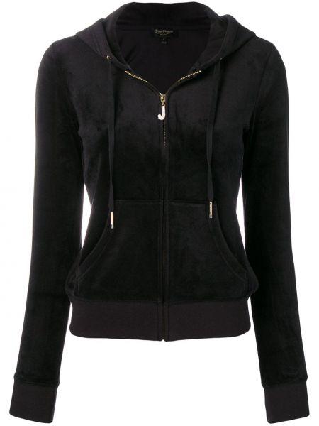 Черная спортивная куртка с манжетами Juicy Couture