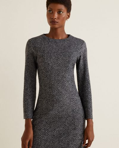 Платье мини длинное с поясом Mango