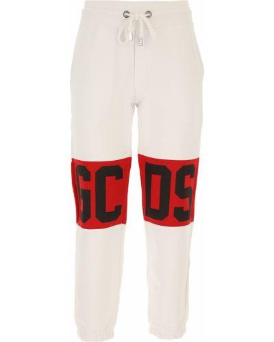 Prążkowane czarne spodnie bawełniane Gcds