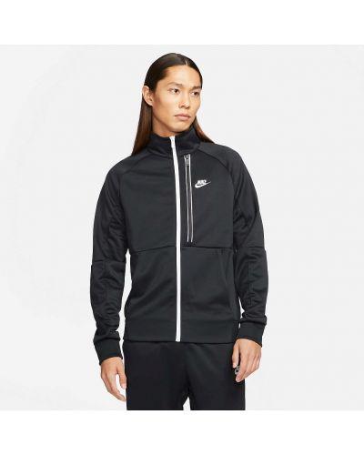 Повседневная черная куртка со вставками Nike