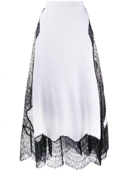 Юбка миди с завышенной талией белая Givenchy