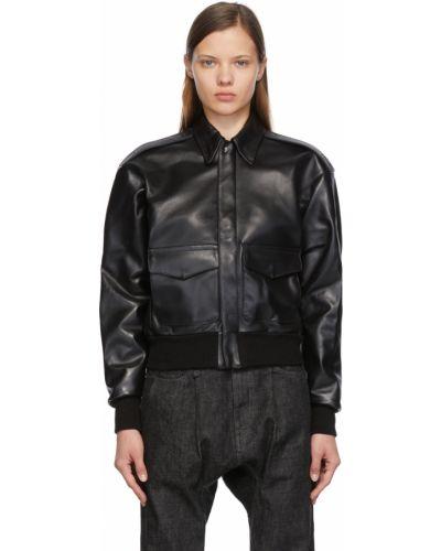 Черная кожаная куртка R13