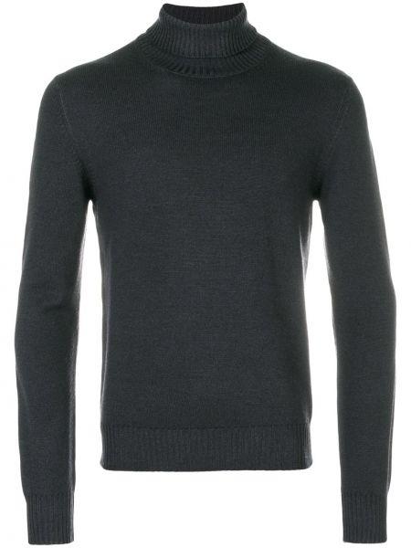 Серый шерстяной пуловер La Fileria For D'aniello