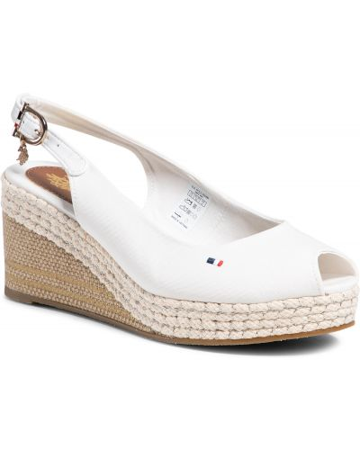 Sandały espadryle - białe U.s Polo Assn.