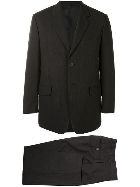 Черный прямой пиджак на пуговицах с карманами Yohji Yamamoto Pre-owned