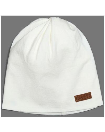 Белая шапка хлопковая емае