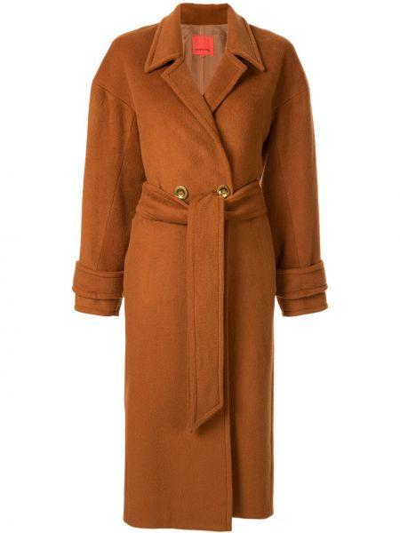 Шерстяное пальто классическое с капюшоном на пуговицах Manning Cartell