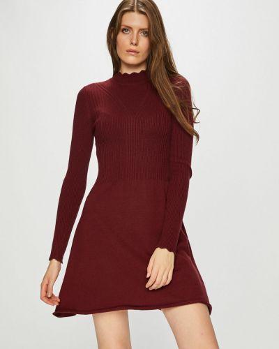 Sukienka mini z długim rękawem w pasy Only