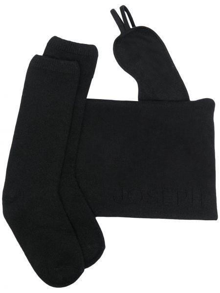 Кашемировые черные носки эластичные Joseph