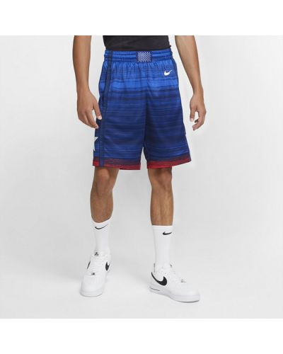 Синие кожаные шорты Nike