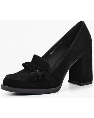 Туфли на каблуке осенние замшевые La Grandezza