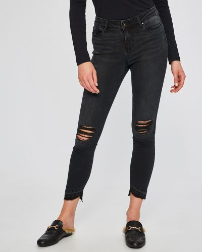 Серые джинсы-скинни Vero Moda