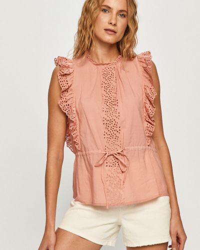 Bluzka z falbanami bez rękawów bawełniana Vero Moda
