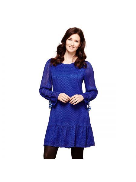 Платье мини с длинными рукавами расклешенное Yumi