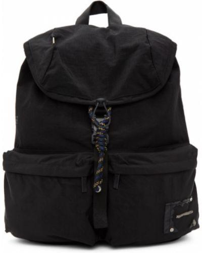 Włókienniczy czarny plecak na laptopa z łatami z kieszeniami Ader Error