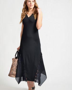 Хлопковое платье - черное Just Valeri