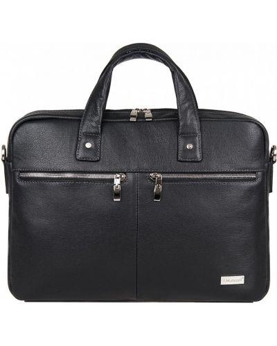 Кожаная сумка на молнии Franchesco Mariscotti