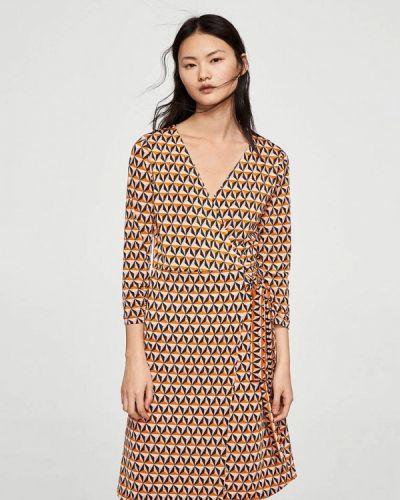 Платье с запахом Mango